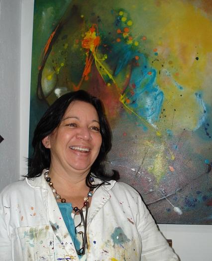 Patricia Pieschacon - en su taller